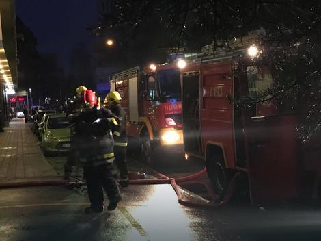 Vatrogasci u akciji u Ulici Episkopa Visariona