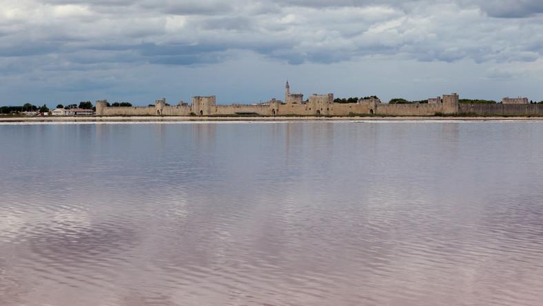 Krwawe jezioro w Camargue na południu Francji