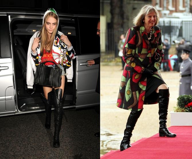 Hrabra u modnim odabirima: Teresa voli duboke kožne čizme, kao i Kara