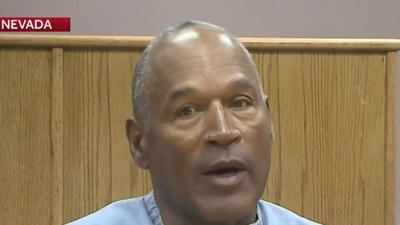 O.J. Simpson was granted parole, and could be out of prison as early as October 1