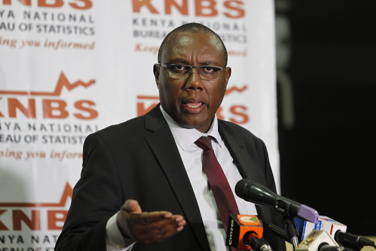 KNBS Director General Zachary Mwangi during a press conference on the upcoming census on July 8, 2019. (the star)