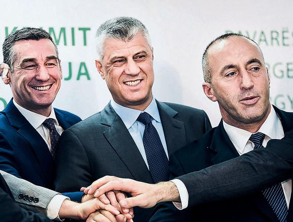 Kadri Veselji, Hašim Tači i Ramuš Haradinaj