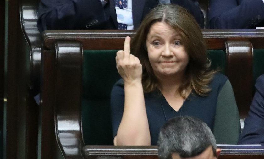Niechlubny gest Joanny Lichockiej