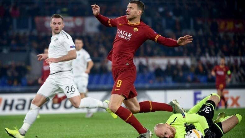 Forward Edin Dzeko in action for Roma - US billionaire Dan Friedkin is in talks to take over the Serie A club