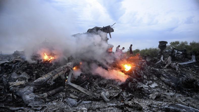 Miejsce katastrofy malezyjskiego samolotu pasażerskiego MH-17 na Ukrainie