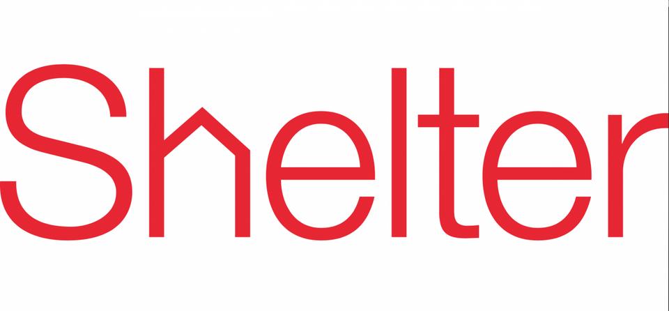 """Shelter – Brytyjska organizacja charytatywna Shelter szuka domów dla bezdomnych. Dlatego """"h"""" przypomina dom."""