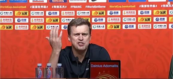 Besni trener Litvanaca Dainius Adomaitis