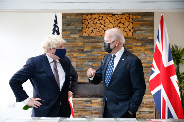 Boris Johnson i Joe Biden