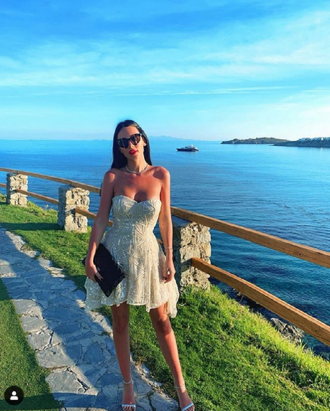 Anastasija Ražnatović je pre Crne Gore uživala na Mikonosu