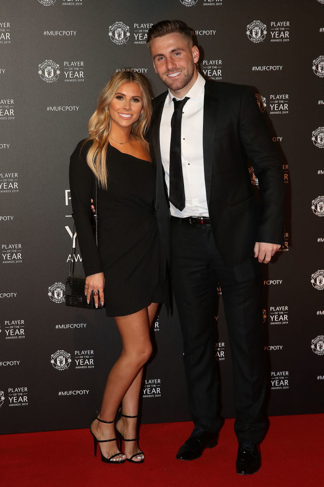 Luke Shaw z partnerką