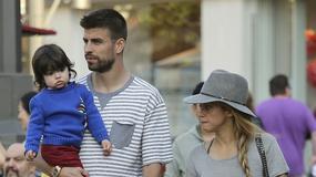 Gerard Pique i Shakira na spacerze z synkiem