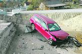 Nesreća na autoputu, Koridor 11 pomerene barijere na ulazu u Nepricavi_foto Predrag Vujanac