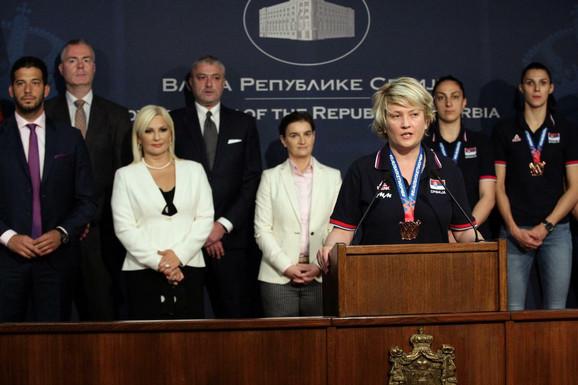 Marina Maljković na prijemu u Vladi Srbije