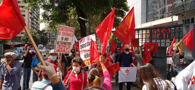 Protest komunista u Karakasu u novembru
