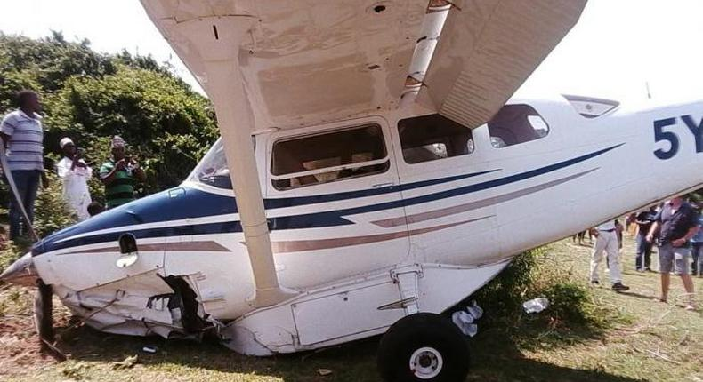 Plane crash-lands in Diani after developing mechanical problems