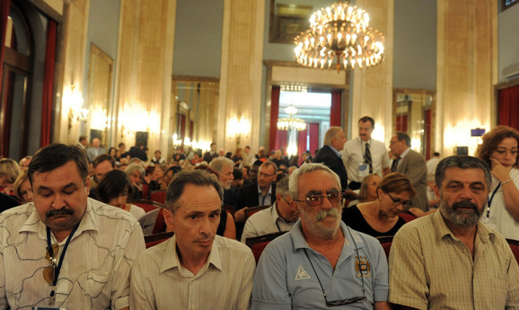 Učesnici PEN-a na svečanom skupu u Skupštini grada
