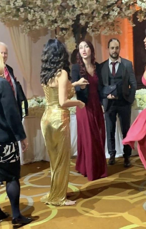 Anđela Ražnatović na svadbi Veljka i Bogdane Ražnatović
