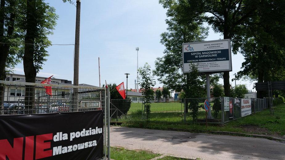 Teren ośrodka w Garwolinie