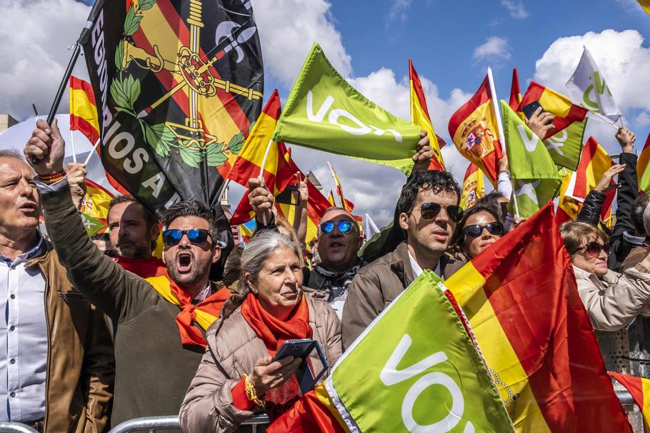 Vox march in Barcelona, Spain - 30 Mar 2019