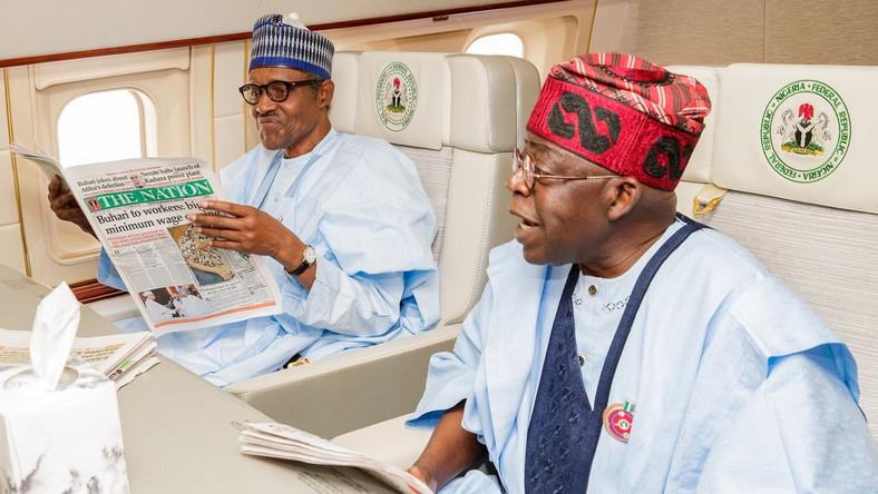 Image result for tinubu and Buhari