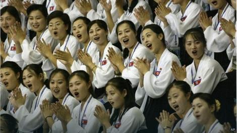 Severnokorejske navijačice