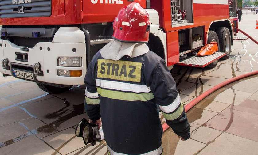 Pożar w Warszawie