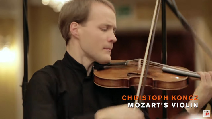 Christoph Koncz - Mozart's Violin 1 foto Youtube Sony Classical