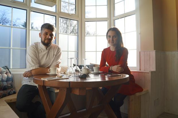 Damian Wawrzyniak i Olivia Drost podczas wywiadu w House of Feasts