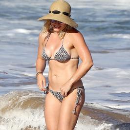 Hilary Duff w bikini. Co za ciało!