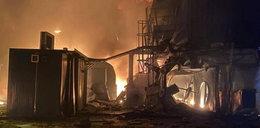 Eksplozja w fabryce w Oświęcimiu. Twa gaszenie pożaru