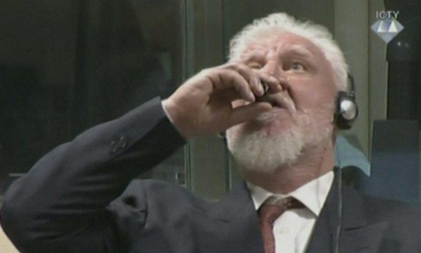 Slobodan Praljak wypił cyjanek potasu