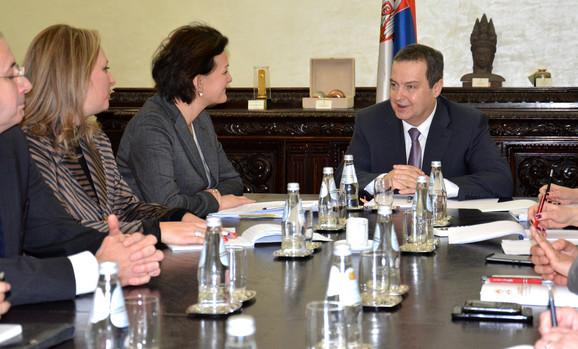 Angelina Ajnhorst i Ivica Dačić