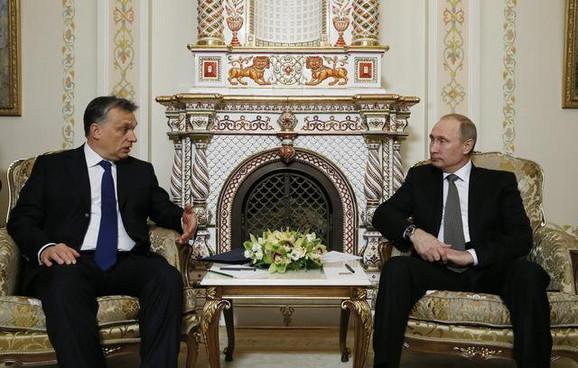 Viktor Orban i Vladimir Putin u Kremlju
