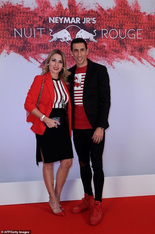 Angel Di Maria and wife Jorgelina Cardoso [Getty Images]