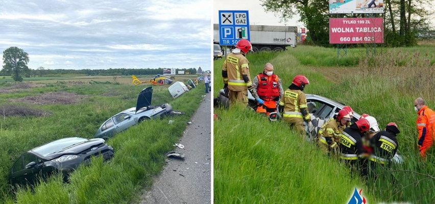 Groźny wypadek pod Opolem. 5 osób rannych