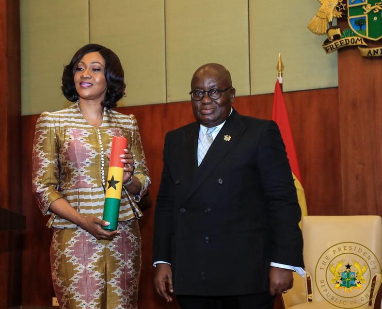 Nana Addo with EC boss Jean Mensa