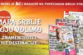 Blic i magazin na povećanom broju strana plus mapa Srbije