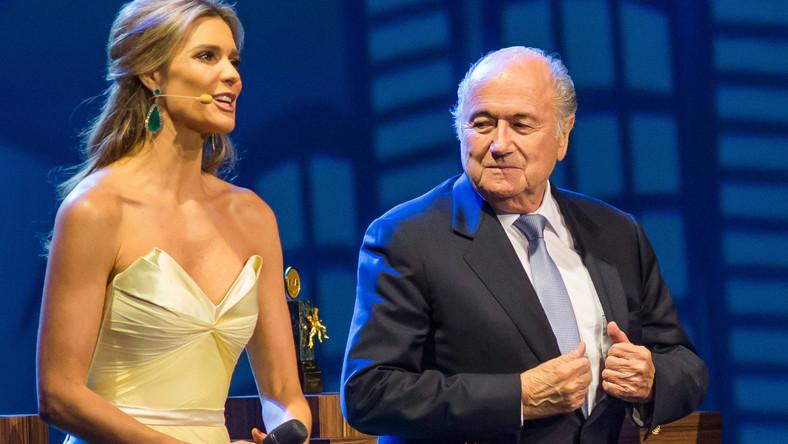 Joseph Blatter i Fernanda Lima