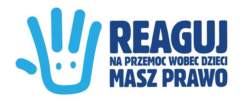 """Logo akcji """"Reaguj.Masz prawo"""""""