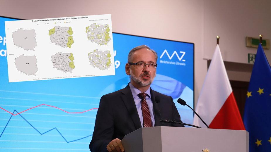 Minister zdrowia Adam Niedzielski (fot. Twitter/Piotr Tarnowski)