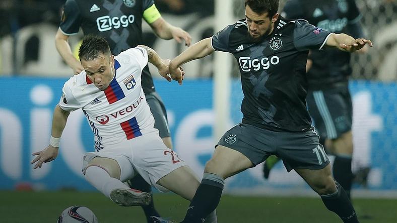 FRANCE SOCCER UEFA EUROPA LEAGUE (Olympique Lyon vs Ajax Amsterdam)