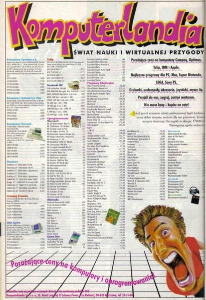 Reklama sklepu Komuterlandia w magazynie Top Secret