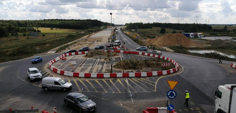 A1 oddany odcinek 8 km widok od Radomska w stronę Częstochowy