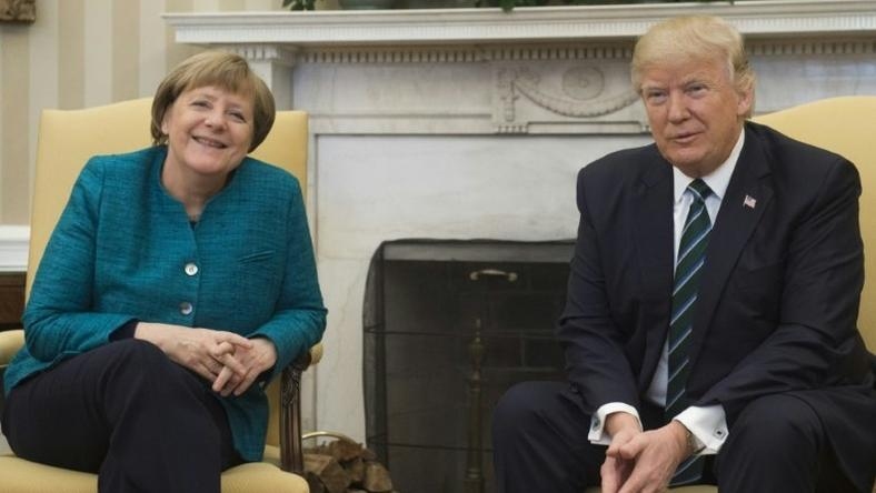 US President Donald Trump and German Chancellor Angela Merkel met at the White House in March 2017
