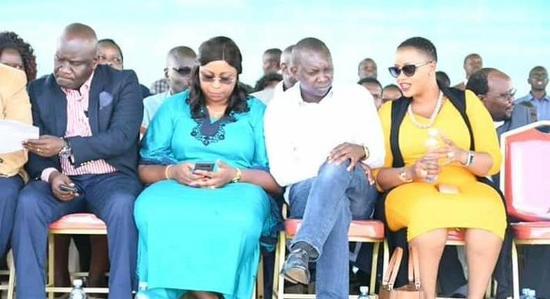 File image of Aisha Jumwa, Oscar Sudi and Catherine Waruguru