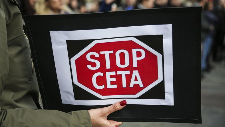 STOP CETA. Protest w Krakowie