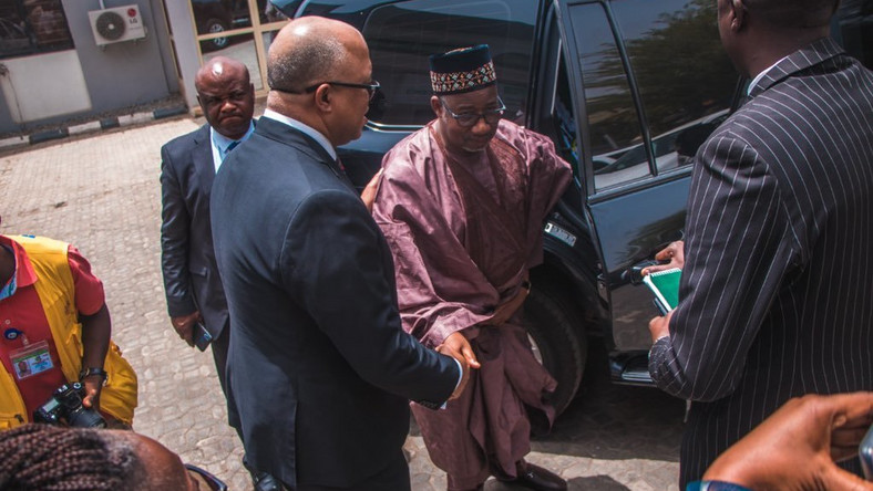 Bauchi State governor, Bala Mohammed, met with the director general of the Nigeria Centre for Disease Control (NCDC), Chikwe Ihekweazu, shortly after returning from Germany, a high-risk country [NCDC]