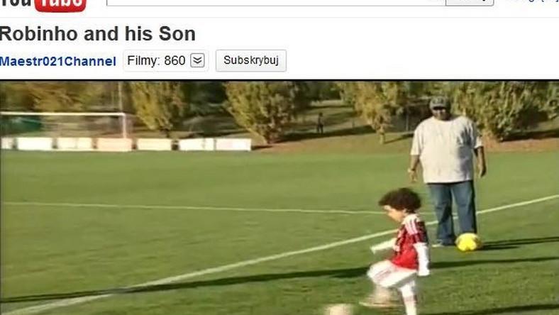 Synek Robinho choć ma cztery lata już wiele potrafi