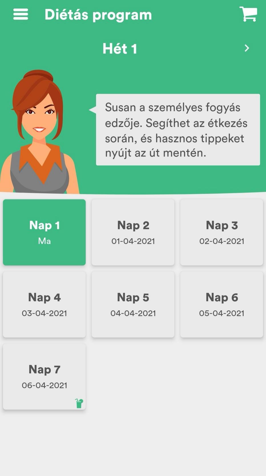 El entrenador húngaro de pérdida de peso está un poco roto, pero ofrece consejos de dieta y entrenamiento durante cinco semanas.