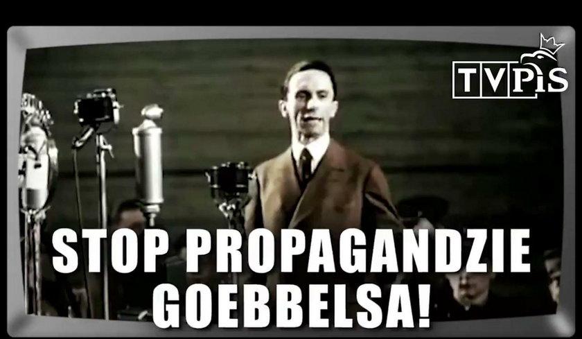 Goebbels pojawia się na końcu spotu